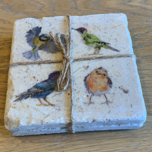 The British Collection - bird coasters x 2