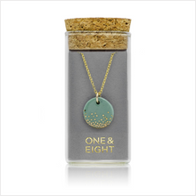 Load image into Gallery viewer, Porcelain sage mist gold necklace