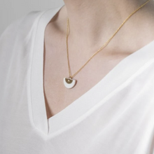 Load image into Gallery viewer, Porcelain gold ora necklace gold vermeil chain