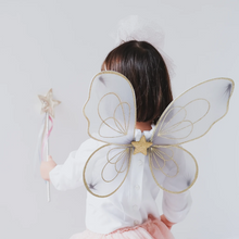 Load image into Gallery viewer, Grey fairy dust sparkle wings