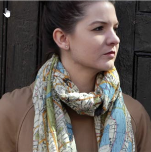 London streets scarf