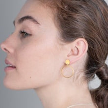 Load image into Gallery viewer, Gold luna earrings