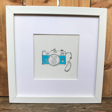 Load image into Gallery viewer, Be the reason framed hand painted print