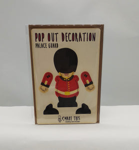 Pop out palace guard card