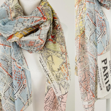 Load image into Gallery viewer, Paris Streets scarf