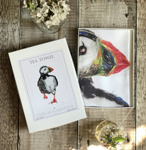 Load image into Gallery viewer, Fluoro pink penguin tea towel (in box)