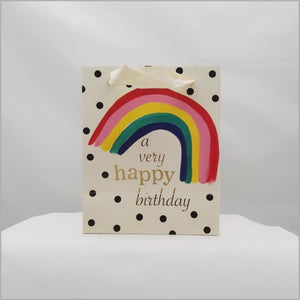 Rainbow medium gift bag