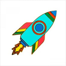 Load image into Gallery viewer, Rocket enamel pin