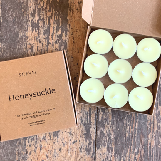 Tealights - honeysuckle (pack of 9)