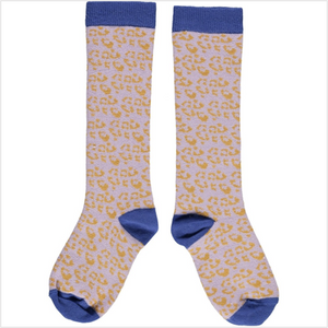 Girls knee high socks - leopard