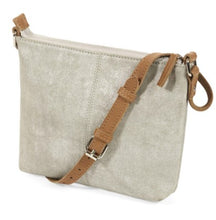 Load image into Gallery viewer, Suede cross-body bag – metallic gold