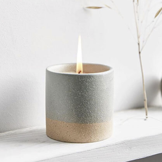 Earth sky blue candle pot - tranquillity