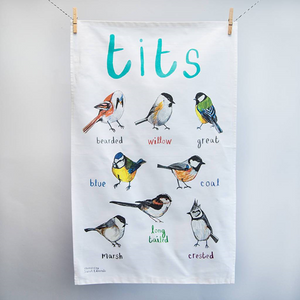 Tits tea towel