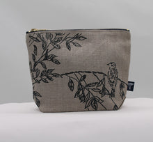 Load image into Gallery viewer, Toiletry bag - Birdsong - indigo