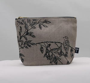Toiletry bag - Birdsong - indigo