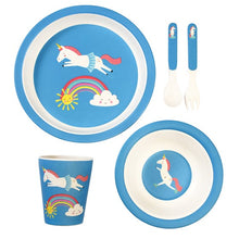 Load image into Gallery viewer, Magical Unicorn bamboo tableware set