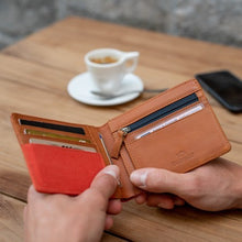 Load image into Gallery viewer, Leather wallet - orange brick