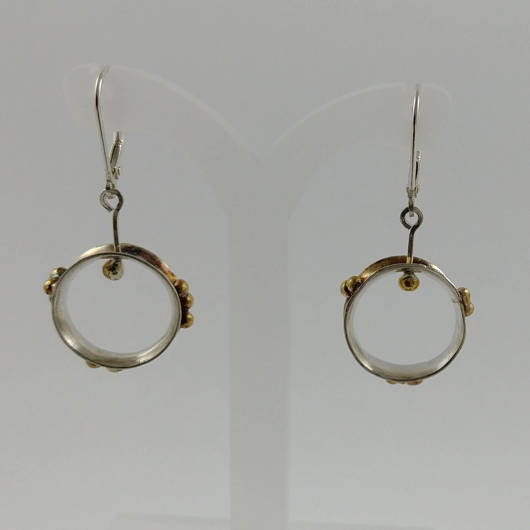 Hand fabricated Kinetic Earrings