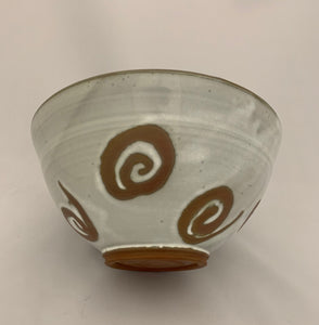Chun White Bowl with Naked Swirl Decoration