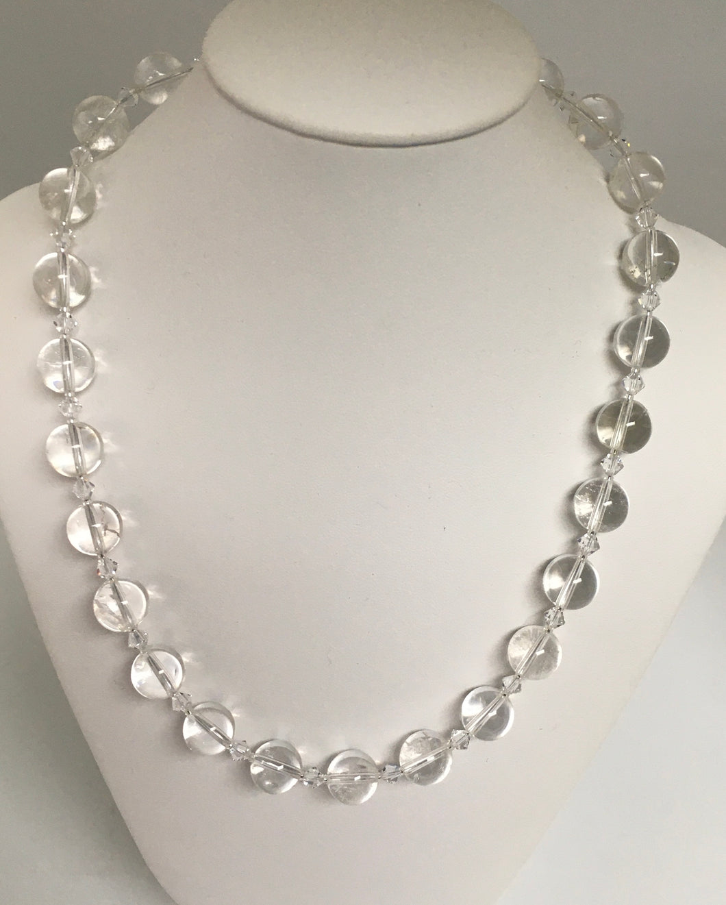 Crystal Quartz and Swarovski Necklace