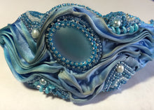Load image into Gallery viewer, Shibori Silk Cuff Bracelet