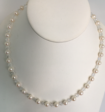 Load image into Gallery viewer, Pearl and Swarovski Necklace Single Strand