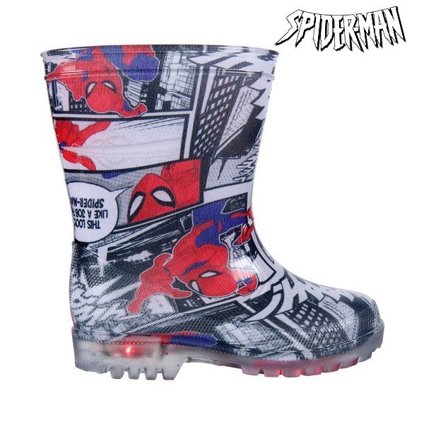 Kinder Gummistiefel mit LEDs Spiderman 73483