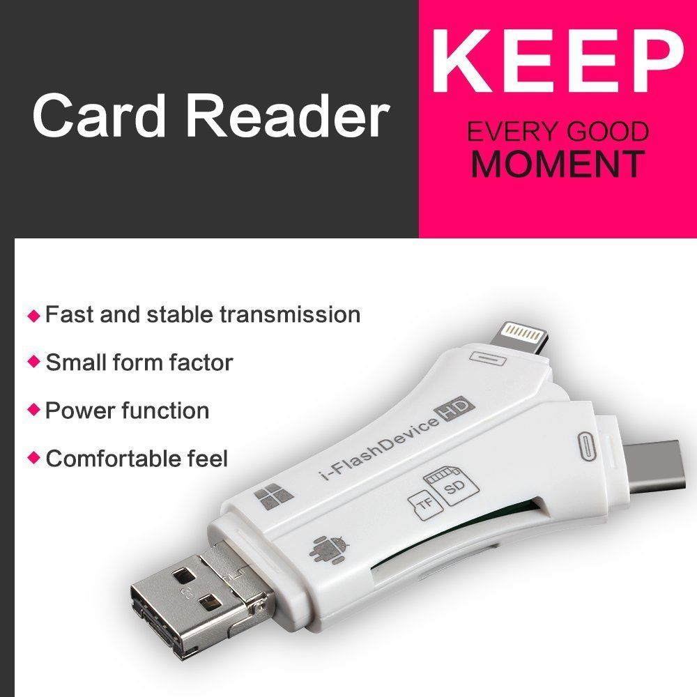 4 in 1 Flash Drive Card Reader