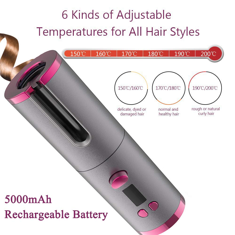USB Rechargeable Automatic Hair Curler