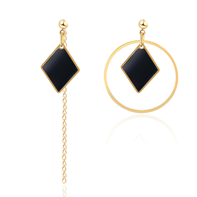 X&P New Heart Statement Drop Earrings