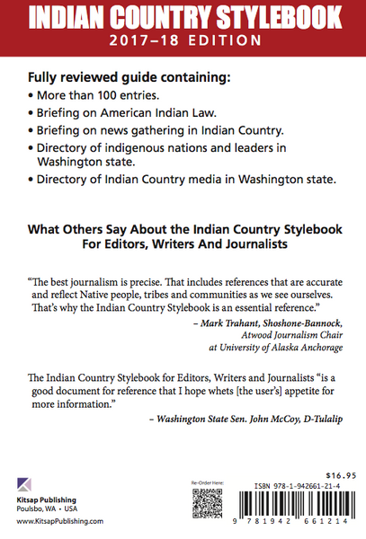 Indian Country Stylebook 2017–18 Edition