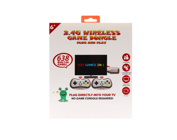 2.4G Wireless Game Dongle (638 Games in 1 - WG01)