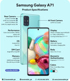 Samsung Galaxy A71 128GB Dual Sim GSM Unlocked Android Smartphone (NEW)