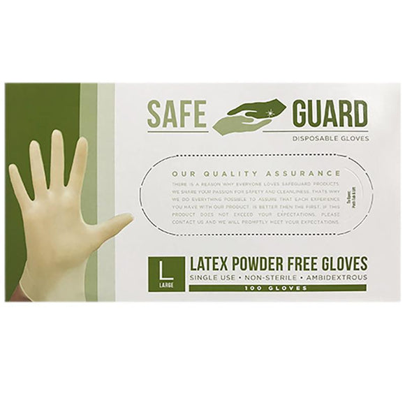 Safe Guard Latex Powder Free Gloves