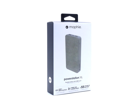 BRAND NEW Mophie PowerStation XL 15,000 mAh, USB-C, 3 Charge Ports, 55+ HR