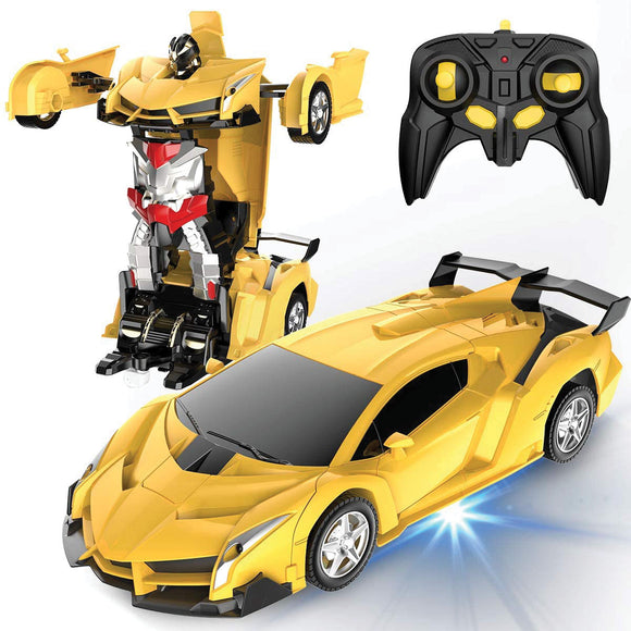 Silver Shadow Transformer Car & Robot (Yellow/ Red Box)