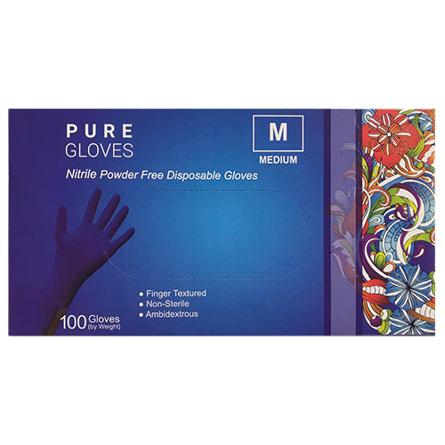 Pure Gloves Nitrile Powder Free Disposable Gloves