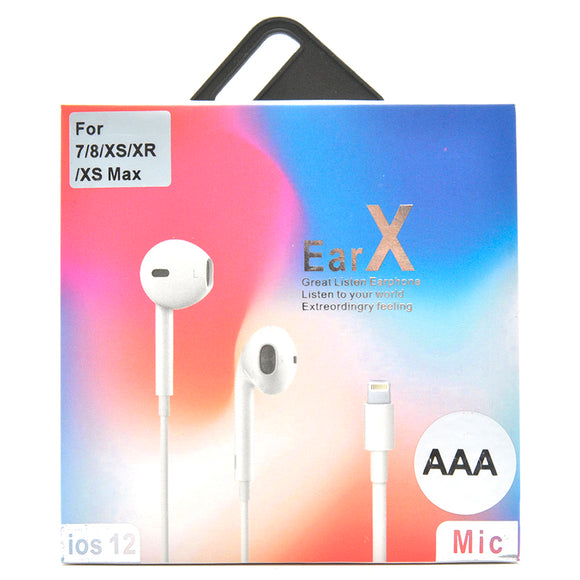 Earphones for Apple iPhone 7, 8 and X (AAA)