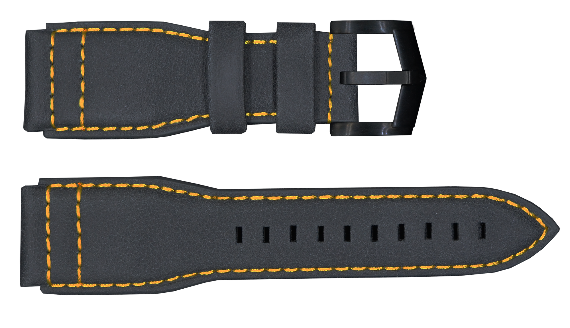 Gray Strap with Black Buckle