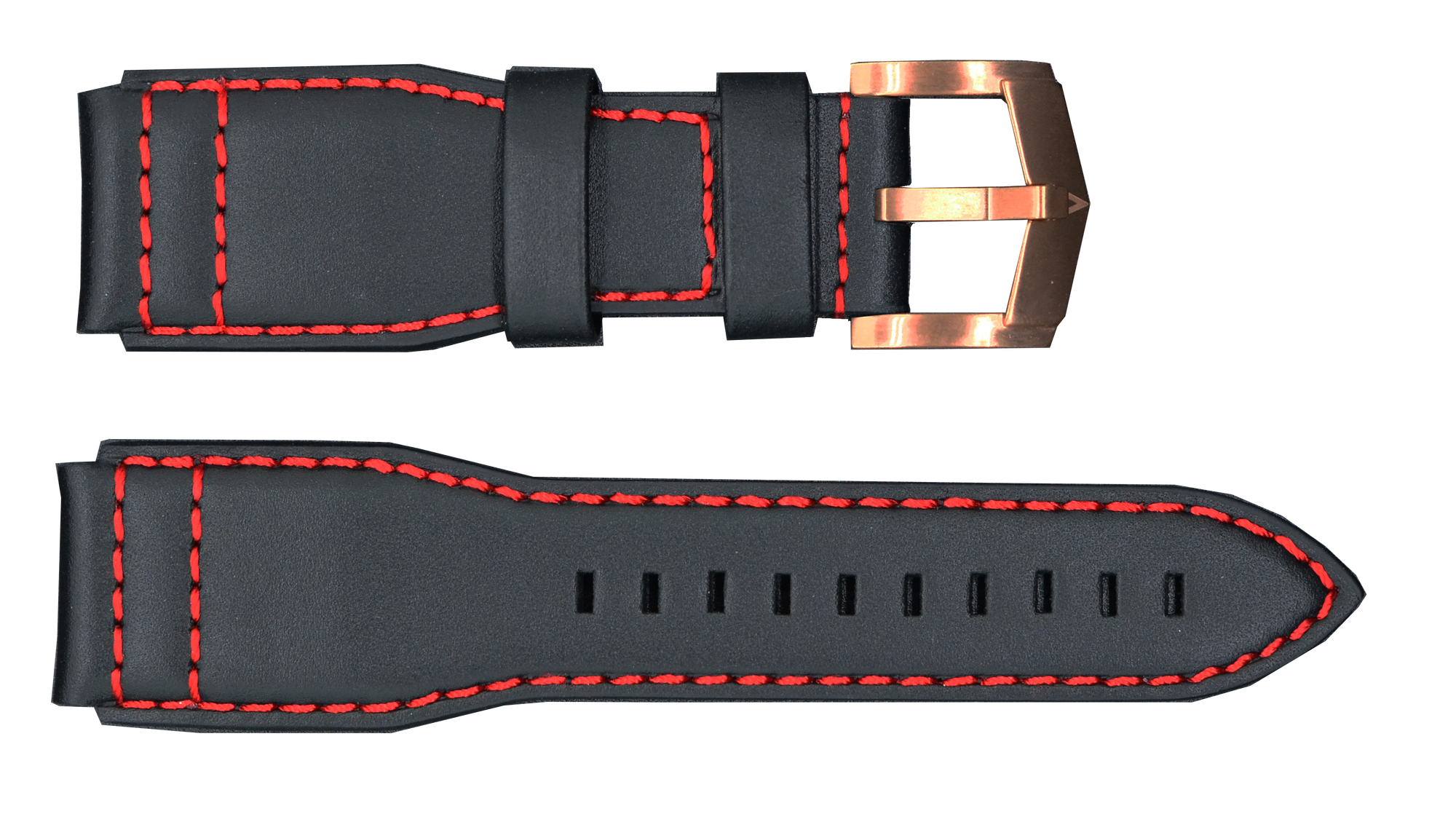 Black Strap with Rose Gold Buckle