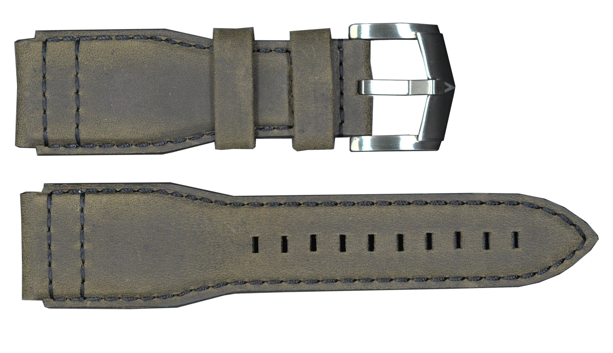 Military Green Strap with Silver Buckle