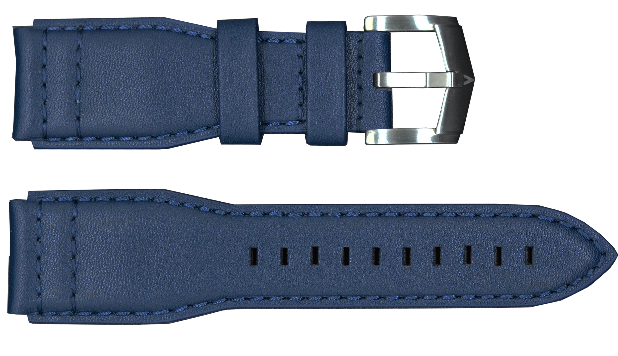 Blue Strap with Silver Buckle