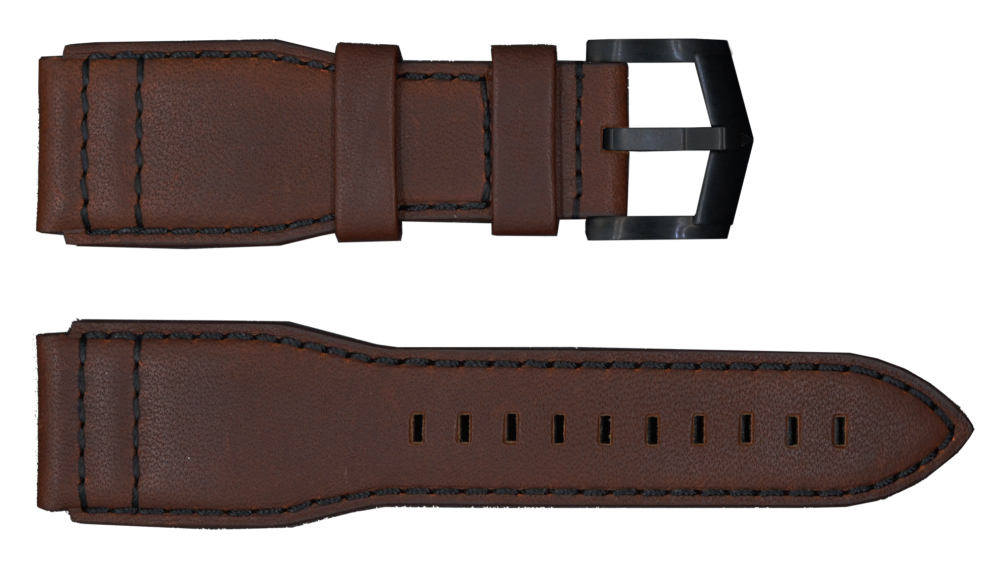 Brown Strap with Black Buckle