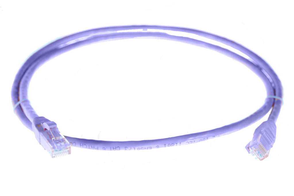 2m RJ45 CAT6 Ethernet Cable. Purple