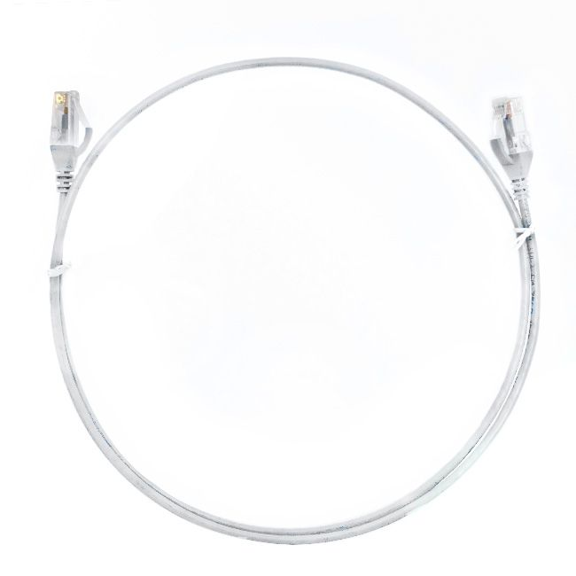0.25m Cat 6 Ultra Thin LSZH Pack of 50 Ethernet Network Cable. White
