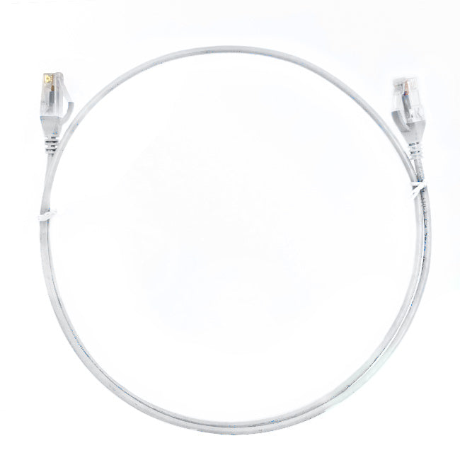 0.75m Cat 6 RJ45 RJ45 Ultra Thin LSZH Network Cables  : White