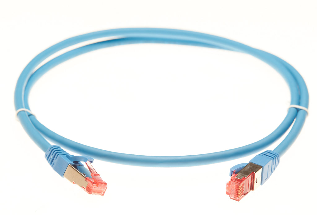 10m Cat 6A S/FTP LSZH Ethernet Network Cable. Blue