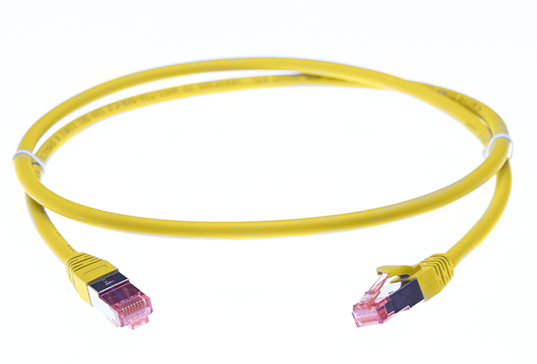 0.25m Cat 6A S/FTP LSZH Ethernet Network Cable. Yellow