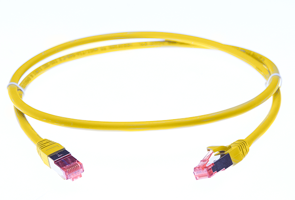 1m Cat 6A S/FTP LSZH Ethernet Network Cable. Yellow