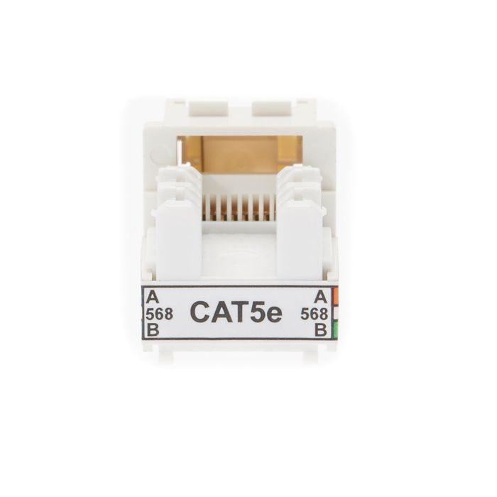 Cat 5E Keystone RJ45 Jack for 110 Face Plate | Pack of 10